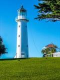 Tiritiri Matangi lighthouse and ranger station, Tiritira Matangi island, New Zealand Stock Photo