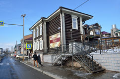 TIrkutsk,俄罗斯, 2017年3月, 03日 Buryat ethno咖啡馆` Shedite汉撒同盟`在伊尔库次克 库存照片