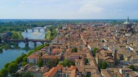 Tiro aéreo com o zangão em Pavia Imagens de Stock