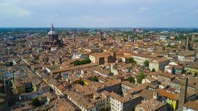 Tiro aéreo com o zangão em Pavia Fotografia de Stock Royalty Free