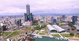 Tiro aéreo da cidade de Kaohsiung filme