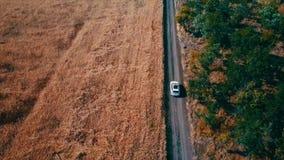Tiro aéreo da condução de carros filme