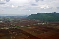 Tiro aéreo da paisagem em Tailândia fotografia de stock royalty free