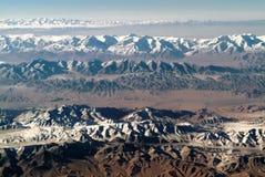 Tiro aéreo da porcelana ocidental de Qinghai Fotos de Stock Royalty Free