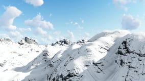 Tiro aéreo 1 das montanhas e das nuvens video estoque