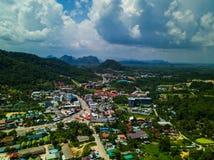 Tiro aéreo de la visión superior del valle Fotos de archivo