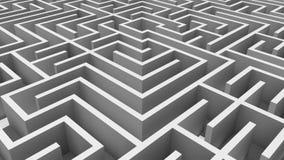 Tiro aéreo de labirinto complicado ilustração stock