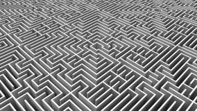 Tiro aéreo de labirinto complicado ilustração do vetor