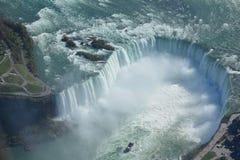 Tiro aéreo de las caídas Niagara Falls Ontario de la herradura Fotografía de archivo