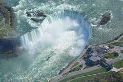 Tiro aéreo de las caídas Niagara Falls Ontario de la herradura Fotografía de archivo libre de regalías