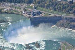 Tiro aéreo de las caídas Niagara Falls Ontario de la herradura Foto de archivo