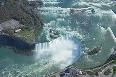 Tiro aéreo de las caídas Niagara Falls Ontario de la herradura Fotos de archivo