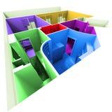 Tiro aéreo de multicolor   Fotos de archivo