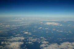 Tiro aéreo de nubes Foto de archivo