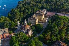 Tiro aéreo de Rovinj, Croácia fotos de stock royalty free
