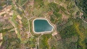 Tiro aéreo de una reserva de agua Imagen de archivo