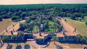 Tiro aéreo del castillo foto de archivo