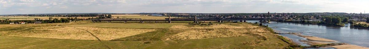 Tiro aéreo del río Vistula foto de archivo libre de regalías