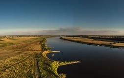 Tiro aéreo del río Vistula imagenes de archivo