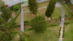 Tiro aéreo do centro em Cameron Highlands video estoque