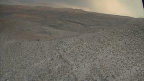 Tiro aéreo do deserto perto de Las Vegas video estoque