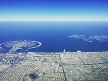 Tiro aéreo Dubai UAE Foto de archivo