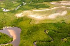 Tiro aéreo, terra de cima de, Austrália Fotos de Stock Royalty Free