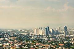 Tiro aéreo urbano Imagen de archivo libre de regalías