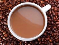 Tiro acima da xícara de café foto de stock royalty free