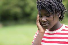 Tiro al aire libre del adolescente subrayado Imagen de archivo libre de regalías