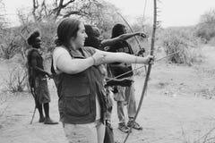 Tiro al arco africano Fotos de archivo libres de regalías