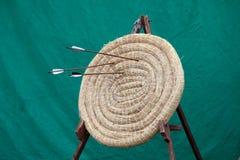Tiro al arco Straw Target redondo Imagen de archivo libre de regalías