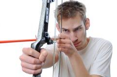 Tiro all'arco della freccia e dell'arco Immagine Stock Libera da Diritti