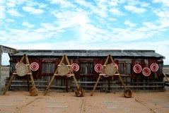 Tiro all'arco o obiettivi di lancio della lama Immagini Stock Libere da Diritti