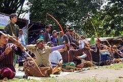 Tiro all'arco tradizionale Fotografia Stock
