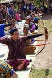 Tiro all'arco tradizionale Fotografia Stock Libera da Diritti