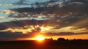 Tiro ancho de Colorado de la puesta del sol fantástica