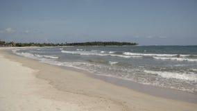 Tiro ancho de la línea de la playa de la playa metrajes