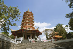 Tiro ancho de la pagoda china foto de archivo