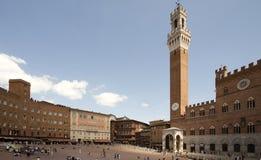 Plaza del Campo de Siena Imágenes de archivo libres de regalías