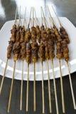 Tiro ancho del pincho satay del pollo Fotos de archivo