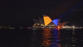 Tiro ancho del teatro de la ópera de Sydney durante 2015 vivo metrajes