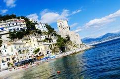 Tiro angular da costa de Amalfi Imagem de Stock