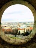 Tiro artístico del parlamento de Budapest imágenes de archivo libres de regalías
