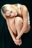 Tiro artístico uma mulher bonita. Imagem de Stock Royalty Free