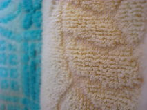 Tiro ascendente cercano de la toalla Foto de archivo libre de regalías
