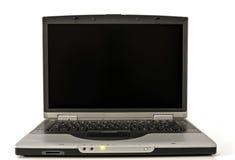 Tiro ascendente próximo do computador portátil Fotografia de Stock