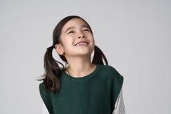 Tiro asiático del estudio de las muchachas Imágenes de archivo libres de regalías