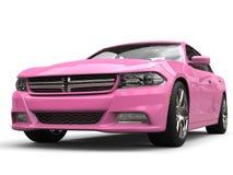 Tiro automobilístico do close up da cidade rápida moderna consideravelmente cor-de-rosa Imagens de Stock Royalty Free