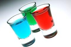 Tiro azul e verde vermelho Imagens de Stock Royalty Free